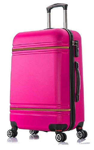 DK Luggage Lightweight ABS DK147 Hardshell Extra Large 32' Suitcase 4 Wheel Spinner Pink