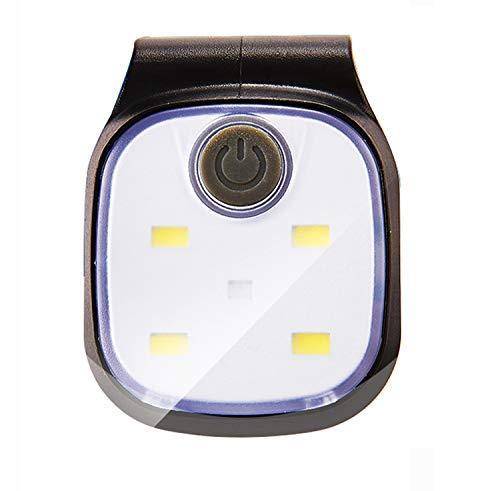 Kopflampe Jogginglampe Lauflampe Cliplampe Sicherheitslicht LED Stirnlampe I für Schulkinder Radfahrer Spaziergänger Walker Läufer Jogger, weiße und rote LED wählbar
