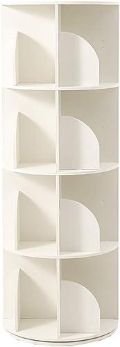 Bücherregal 360 ° Drehbares, Harte Regale Freistehende Display-Regal CDs, Schallplatten Und BüCher, 3 Grün