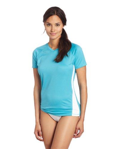 Kanu Surf Women's Short-Sleeve Rashguard, Royal, Medium