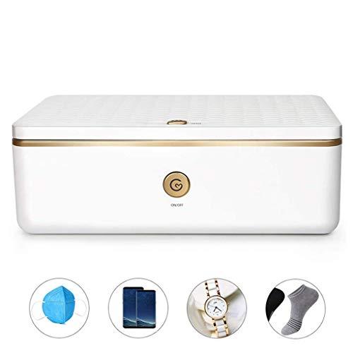 HSRG - Caja de esterilizador UV portátil para todos los teléfonos, herramientas de salón de belleza, gafas, brochas de maquillaje, cepillo de dientes, reloj de joyería