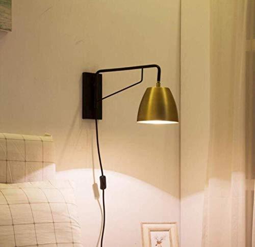 The only good quality decoratie, draaibare verstelbare wandlamp, vintage-stijl, metalen wandlamp, eenvoudig, design, leeslamp, goud, A Villa