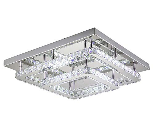 Dimmerabile LED plafoniera lampadario luce colore regolabile bianco caldo neutro freddo telecomando 40x40cm Lewima Ohmerus
