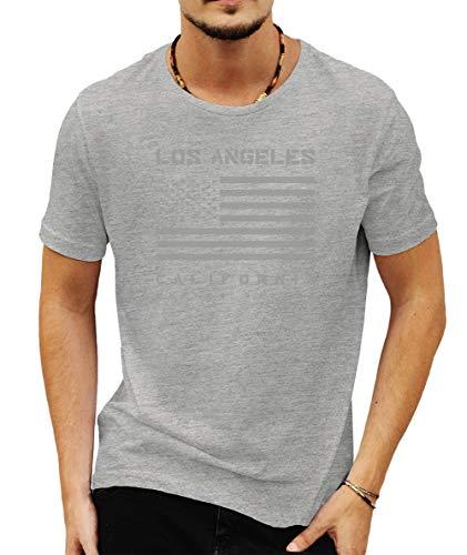 Wild Soul Tees Los Angeles California Estados Unidos - Camiseta para Hombre Gris Gris XXL
