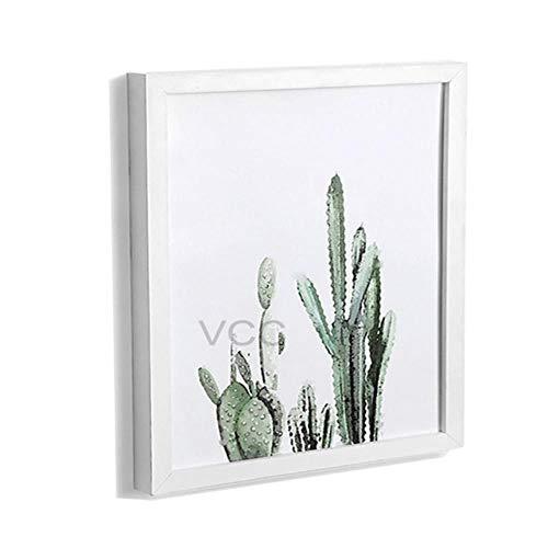 Klassieke houten vierkante fotolijst fotoplexiglas Inclusief posterlijsten voor wandopknoping familiecadeau fotolijst 30X30cm hang wall Silvery Frame