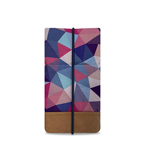 Kuratist Handytasche – Handgemacht – Kompatibel mit iPhone 11/11 Pro, Max/XS Max/XR/iPhone 6/7/8 Plus, Huawei P30 Pro/P20 Lite, Premium Baumwolle & Papier – 100prozent Tier frei (Tribal)