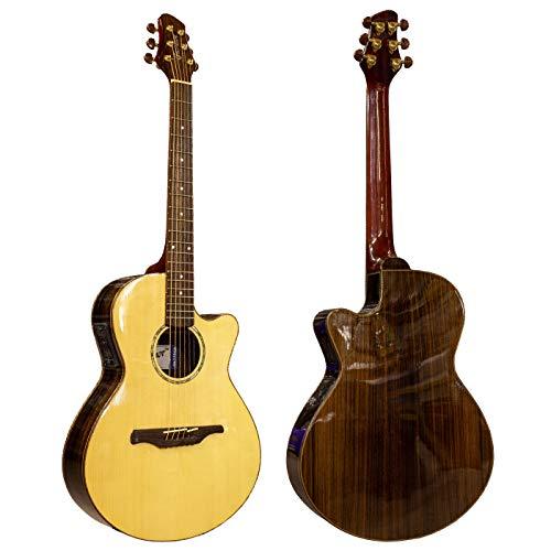 Guvnor van Chase GA775CE Electro Akoestische Gitaar Folk Stijl Natuurlijke Finish Steel Strings