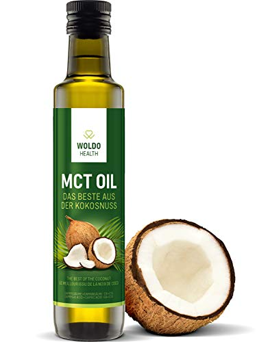 MCT-Öl aus Kokosöl Extrakt geschmacksneutral Vegan 250ml - Caprylsäure (C-8) und Caprinsäure (C-10)