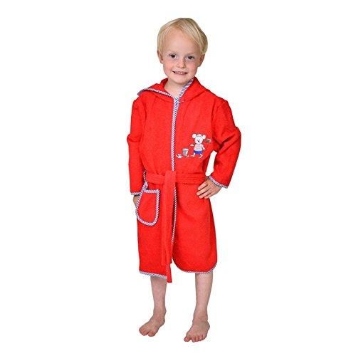 Wörner südfrottier pour bébé garçon «matrosenmaus Rouge Pyjama 2 Bavoirs Peignoir de Bain-Poncho de Bain à Capuche avec Gant de Toilette