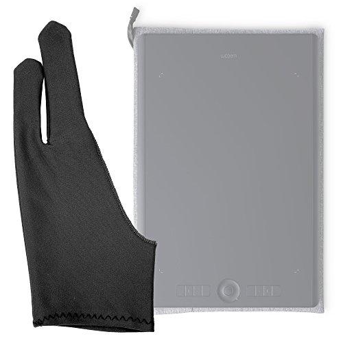DURAGADGET Guanto da Disegno a 2 Dita – per Tablet UGEE M708 | M1000L 10x6 | CV720 | EX05 | EX07 | G3 | G5 | M540 | M6370 | R3C | HK1060 | HK1560 – Anti-incrostazioni – Colore Nero