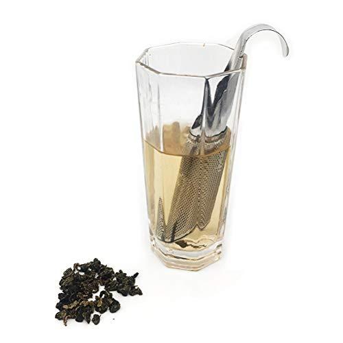 Phayee Filtro de te de Acero Inoxidable, Filtro de te de Malla Fina Gancho, Tubo de infusion de te, infusor de te de Malla Muy Fina para te Suelto