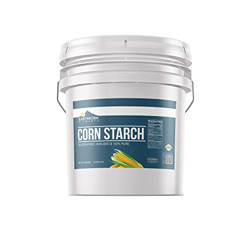Corn Starch (3.5 Gallon ) Resealable Bucket, Thickener For Sauces, Soup, & Gravy, Highest Quality, Natural, Food Safe , Vegan & Gluten Free by Earthborn Elements
