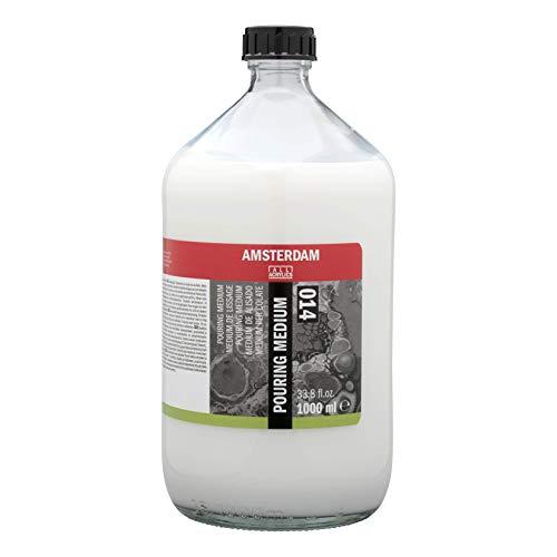 Amsterdam Pouring Medium para técnica de fundición acrílica, botella de 1 litro