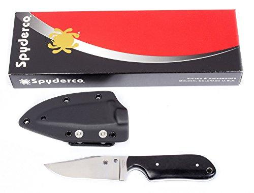 Spyderco Street Beat Micarta Plain Edge Knife, Black