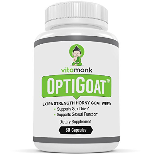 OptiGoat™ - Top Rated Horny Goat Weed Extract by VitaMonk - Standardized for Icariin - Pure Horny Goat Weed Supplement - Natural Healthy Sex Drive & Stamina - For Men and Women - 60 Capsules