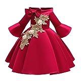 LuckyGirls Robe Élégante Petite Fille Princesse Robes De Bal Fête Petites Filles Filles Robes Cérémonie Anniversaire Casual Robe À Manches Longues