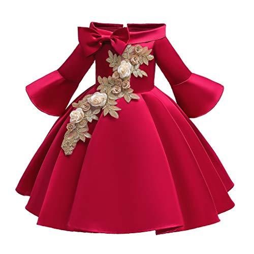 REALIKE Mädchen Baby Farbe Regenbogen Mini Kurz Kleid Elegant Ärmellos Schulterfrei Prinzessin...