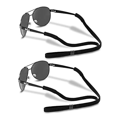 Glasses Strap - Soft Comfortable elastic nylon sunglass strap (Pack of 2) Sports Adjustable eyeglass...