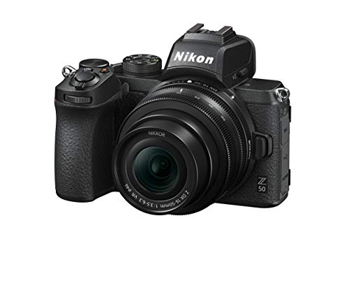 "Nikon Z50 + Z DX 16-50 VR + Lexar SD 64 GB Fotocamera Mirrorless, CMOS DX da 20.9 MP, Sistema Hybrid-AF, Mirino Elettronico (EVF), LCD 3.2"" Touch, Video 4K, Nero [Nital Card: 4 Anni di Garanzia]"
