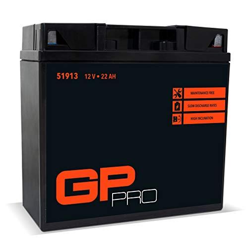 GP-PRO G19 12V 22Ah GEL-Batterie DIN 51913 / Kompatibel mit YT19BL-BS Wartungsfrei & Versiegelt Akkumulator Motorrad Motorradbatterie