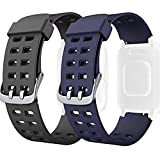<span class='highlight'><span class='highlight'>AndThere</span></span> Replacement Band, Adjustable Soft Silicone Smart Watch Bands Smartwatch Replacement Strap Wristband Watchbands for ID205L ID205 Sport Fitness Tracker Smart Watch Bracelet (Black Blue)