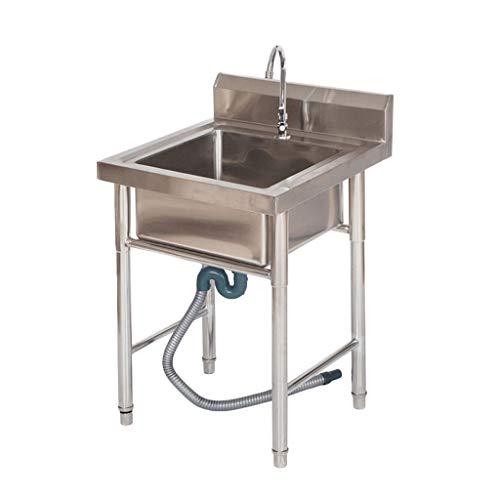 Fregadero de Cocina Comercial Fregadero Simple/Doble de Acero Inoxidable para Uso doméstico...