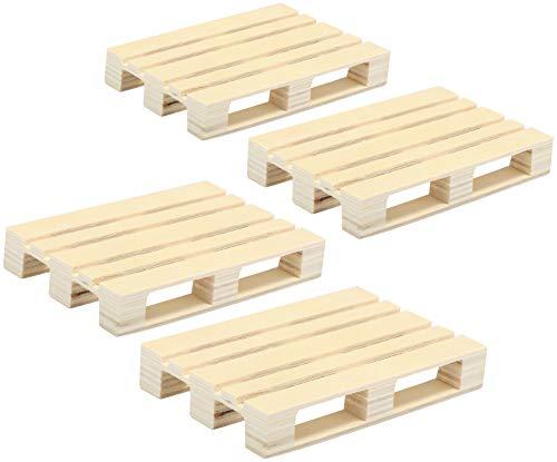 com-four® 4x Untersetzer aus Holz