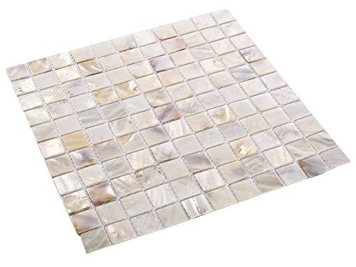 Perlmutt Mosaik Fliesen White 2,5 x 2,5 cm