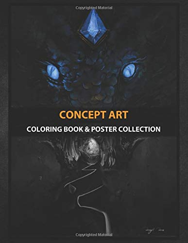 Coloring Book & Poster Collection: Concept Art Illustration Of A Dragon's Egg About To Hatch Fantasy