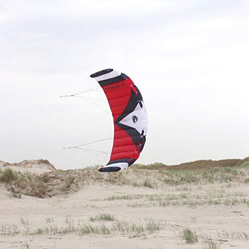 Wolkenstürmer Paraflex Sport 2.3 Lenkmatte, rot/weiß - Kite für Jungendliche und Erwachsene