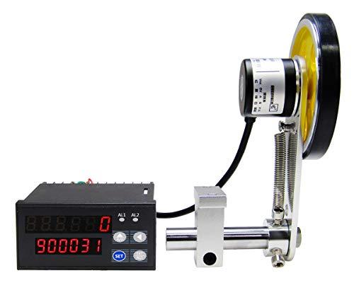 YJINGRUI Digitaler Längenzähler Meterzähler mit Rotary Encoder Radrolle Längenmesser Zähler 0-999999