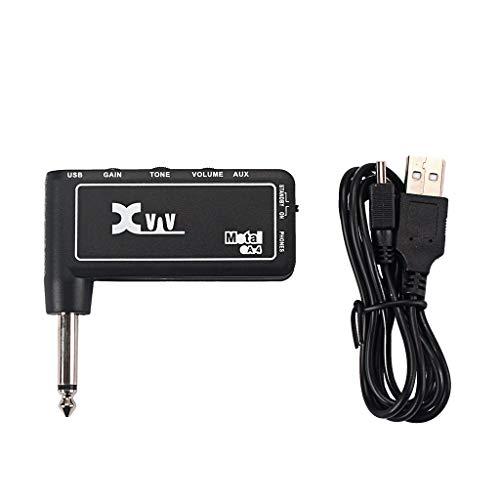 VanseeXvive GA3 Portable Rechargeable Electric Guitar Plug Headphone Amp Amplifier Black