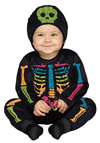 Fun World Infant Color Bones Jumpsuit Costume 6/12 Months