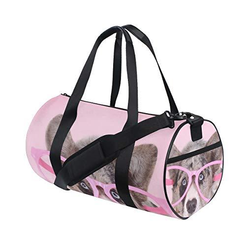 Gym Sports Bag Funny Welsh Corgi Dog Travel Duffel Bag for Men and Women