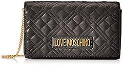 Idea Regalo - Love Moschino Jc4247pp0a, Pochette da Giorno Donna, Nero (Black Quilted), 7x14x22 cm (W x H x L)