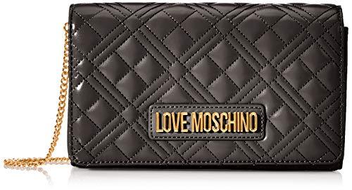 Love Moschino Jc4247pp0a, Pochette da Giorno Donna, Nero (Black Quilted), 7x14x22 cm (W x H x L)