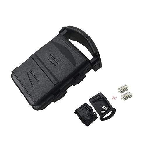TGBVRemote Car Key Shell Cover Case Fob 2 Botones y 2 Microinterruptor Soporte de batería para Vauxhall Opel Corsa Agila Meriva Combo