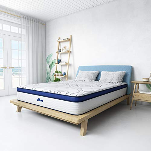 Vibe Quilted Gel Memory Foam and Innerspring Hybrid Pillow Top 12-Inch Mattress, Full