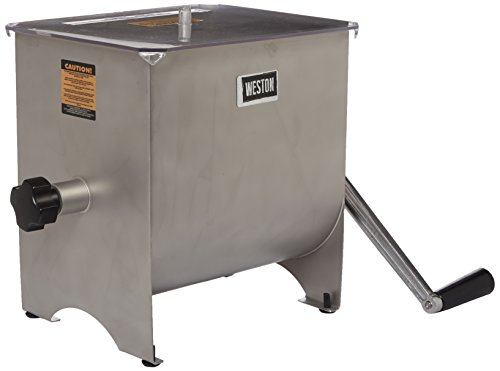Weston Stainless Steel Meat Mixer, 22-Pound (36-1901)