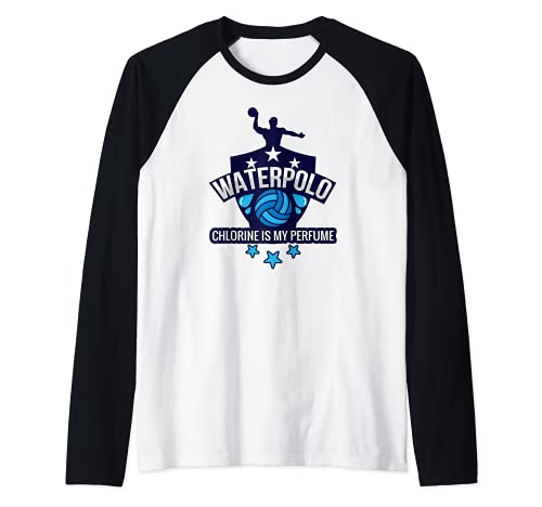 Water Polo Chlorine Is My Perfume Funny Swim Sport Camiseta Manga Raglan