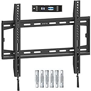 Kompatibilität - Diese TV Wandhalterung ist mit den meisten 66-140cm (26-55 Zoll) Fernsehern bis zu 45.5kg mit VESA-Norm von 75x75mm bis 400x400mm kompatibel. Diese TV-Halterung ist für die Installation von massivem Beton, Betonblockwänden und Holzpf...