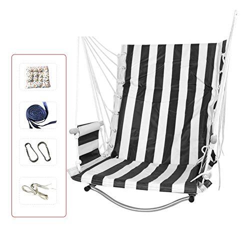 Bestlle hanglamp hangstoel schommelstoel voor binnen buiten plaatsen zwart