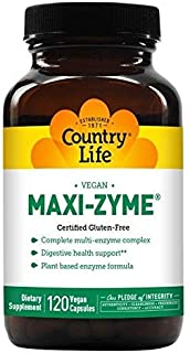 Sponsored Ad - Country Life Maxi-Zyme Caps - 120 Vegetarian Capsules - Digestive Enzyme Complex to Support Maximum Digesti...
