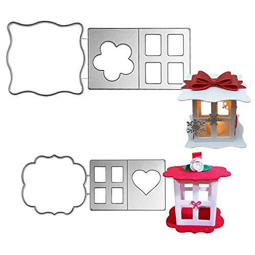 VINFUTUR Fustelle Stencil Cutting Dies 3D Fai da Te per DIY Creazione Scatoline Portaconfetti Bomboniere per Caramelle Regalo Decorazione Matrimonio Compleanno Natale Feste