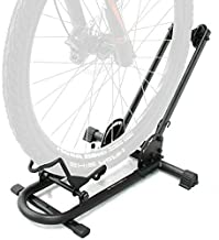 Repacked BIKEHAND Bicycle Floor Type Parking Rack Stand - for Mountain and Road Bike Indoor Outdoor Nook Garage Storage