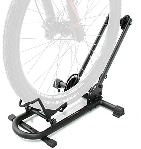 BIKEHAND Bicycle Floor Type Parking Rack Stand - for Mountain and Road Bike Indoor Outdoor Nook Garage Storage