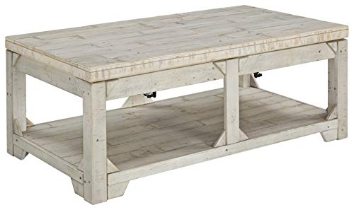 Signature Design by Ashley Fregine Lift Top Cocktail Table Whitewash