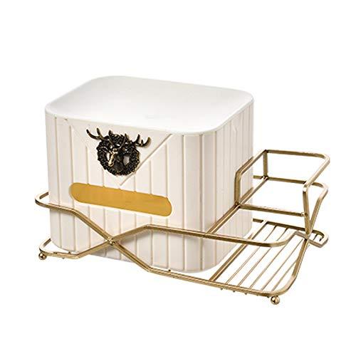 GYAM Caja de Tejido de Almacenamiento, Caja de Almacenamiento de cosmética de Tejido de Gran Capacidad para baño de Sala de Estar,Blanco