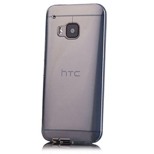 HTC One M9 | iCues Transparent TPU Hülle Klar | [Bildschirm Schutzfolie Inklusive] Transparent Klarsichthülle Durchsichtig Klare Klarsicht Silikon Gel Schutzhülle Hülle Cover Schutz