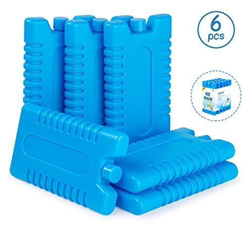 Anstore 6 Stück Kühlakkus mit je 200ml, Kühlelemente für die Kühltasche oder Kühlbox, Kühl-Akku für die Brotdose, bis 12 Stunden Kühlung (Kühlaccus)